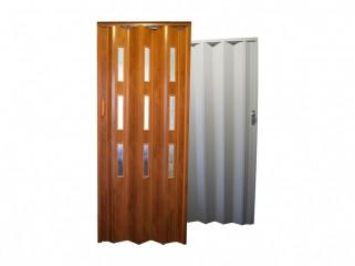 Shrnovací dveře plastové plné nebo prosklené č.1